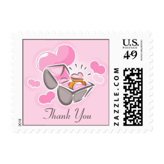 Heart Ring Custom Thank You Postage