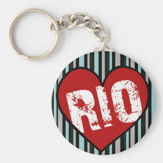 heart rio de janeiro key chains