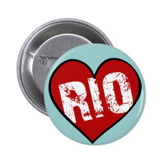 HEART RIO PINBACK BUTTON