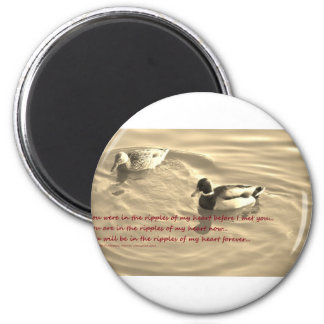 Heart Ripples 2 Inch Round Magnet