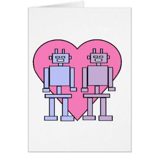Heart Robots Greeting Card
