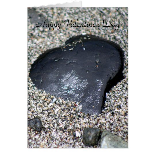Heart Rock Shines With Love Card