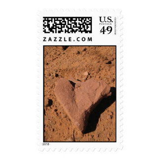 Heart Rocks (1) Postage Stamps