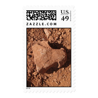 Heart Rocks (2) Postage Stamps