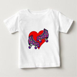 Heart Rollerskates Baby T-Shirt
