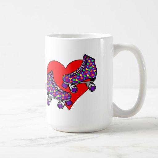Heart Rollerskates Classic White Coffee Mug