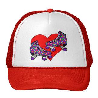 Heart Rollerskates Trucker Hat