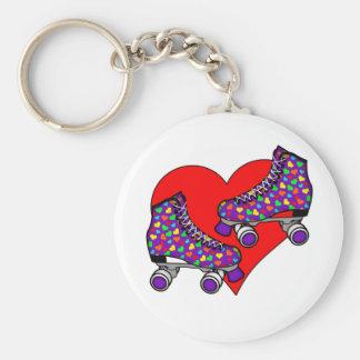 Heart Rollerskates Keychain