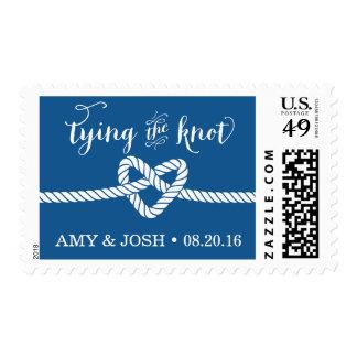 Heart Rope Knot Wedding Stamp (Cobalt / Royal)