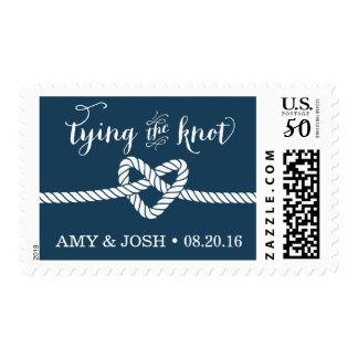 Heart Rope Knot Wedding Stamp (Navy)