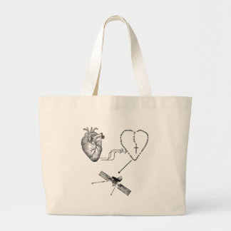Heart Rosary Impossibility Tote Bags