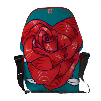 Heart rose courier bag