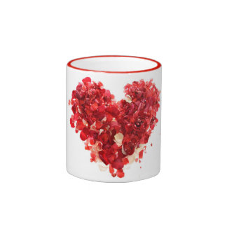 Heart Rose Petals Mug