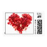 Heart Rose Petals Stamp