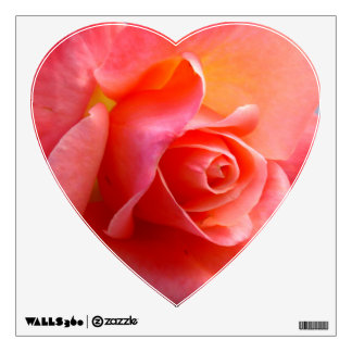 Heart Rose Wall Decals