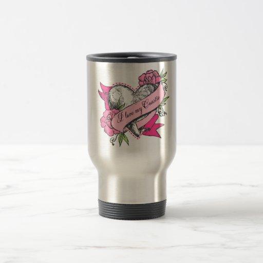 Heart & Roses 15 Oz Stainless Steel Travel Mug