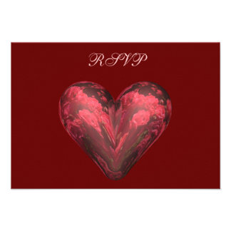 heart roses custom announcements