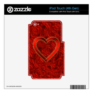 Heart & Roses iPod Touch 4G Skins