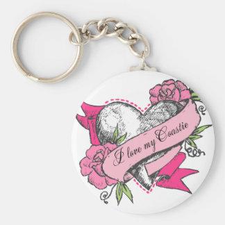 Heart & Roses Keychain