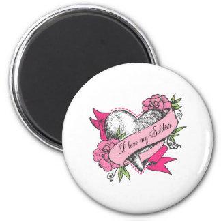 Heart & Roses Magnet
