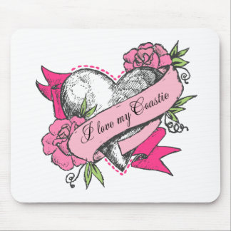 Heart & Roses Mouse Pad