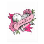 Heart & Roses Post Card
