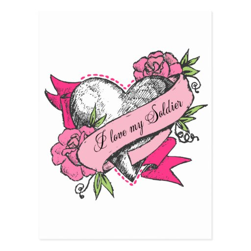 Heart & Roses Post Cards