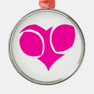 Heart Round Metal Christmas Ornament