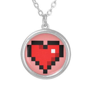 Heart Round Pendant Necklace