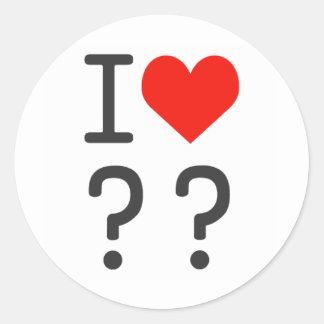 heart round stickers