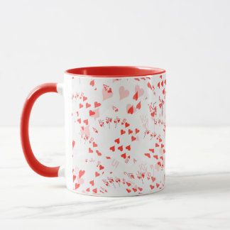 Heart_Royal_Flush_Pattern,_Red Combo Coffee Mug