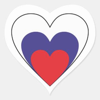 Heart Russia heart Russia Heart Sticker