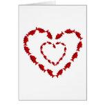 HEART SALMON FISH CARDS
