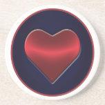 Heart Sandstone Drink Coaster