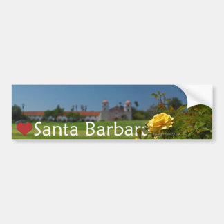 Heart Santa Barbara Bumper Sticker