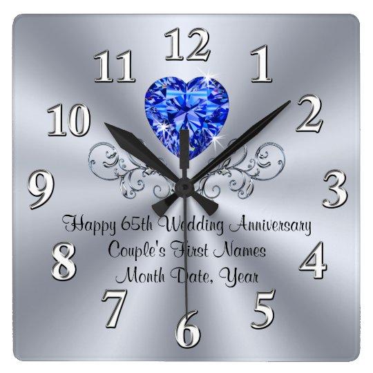 Heart Sapphire 65th Wedding Anniversary Gift Ideas Square