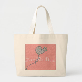 Heart Save The Date Canvas Bags
