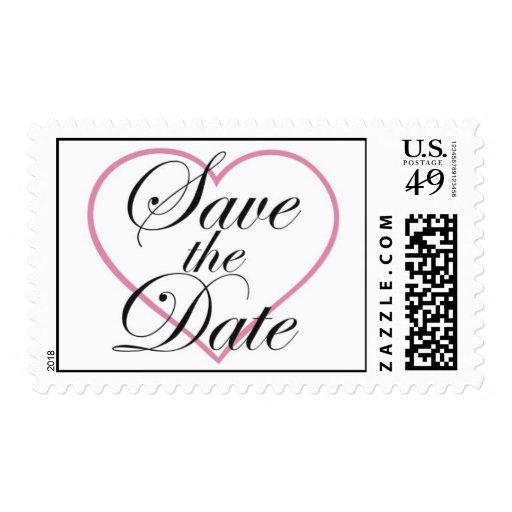 Heart Save the Date Stamp