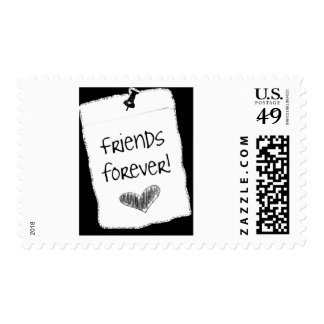 **HEART SAYS FRIENDS FOREVER** U.S. POSTAGE STAMP