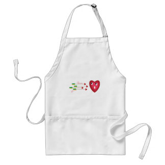 heart scared of arrows adult apron