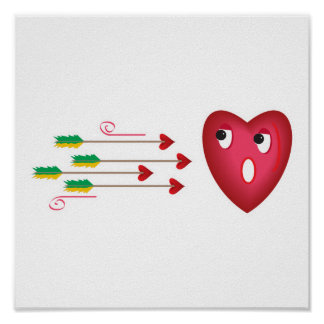 heart scared of arrows poster