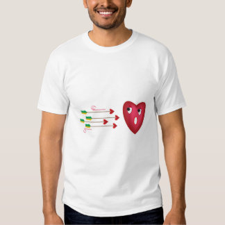 heart scared of arrows shirts