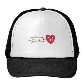 heart scared of arrows trucker hat