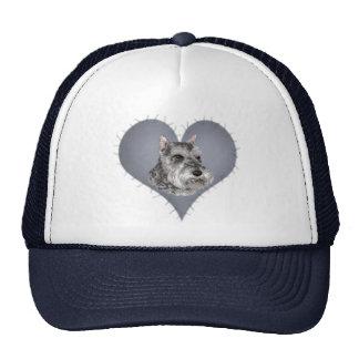 Heart Schnauzer Trucker Hat