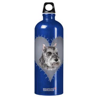 Heart Schnauzer Water Bottle