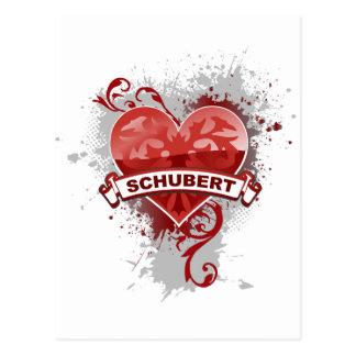 Heart Schubert Postcard