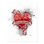 Heart Schumann Postcards