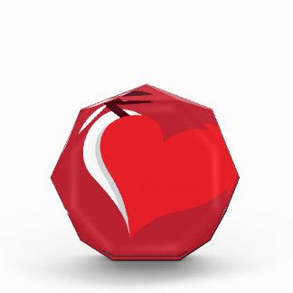 Heart scissors cutout vector award