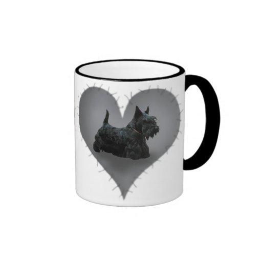 Heart Scottie Coffee Mugs