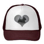Heart Scottie Mesh Hats